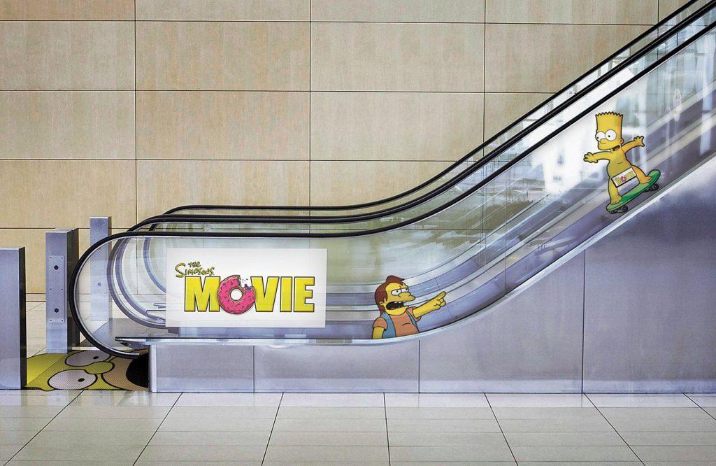 Ambient marketing Simpson