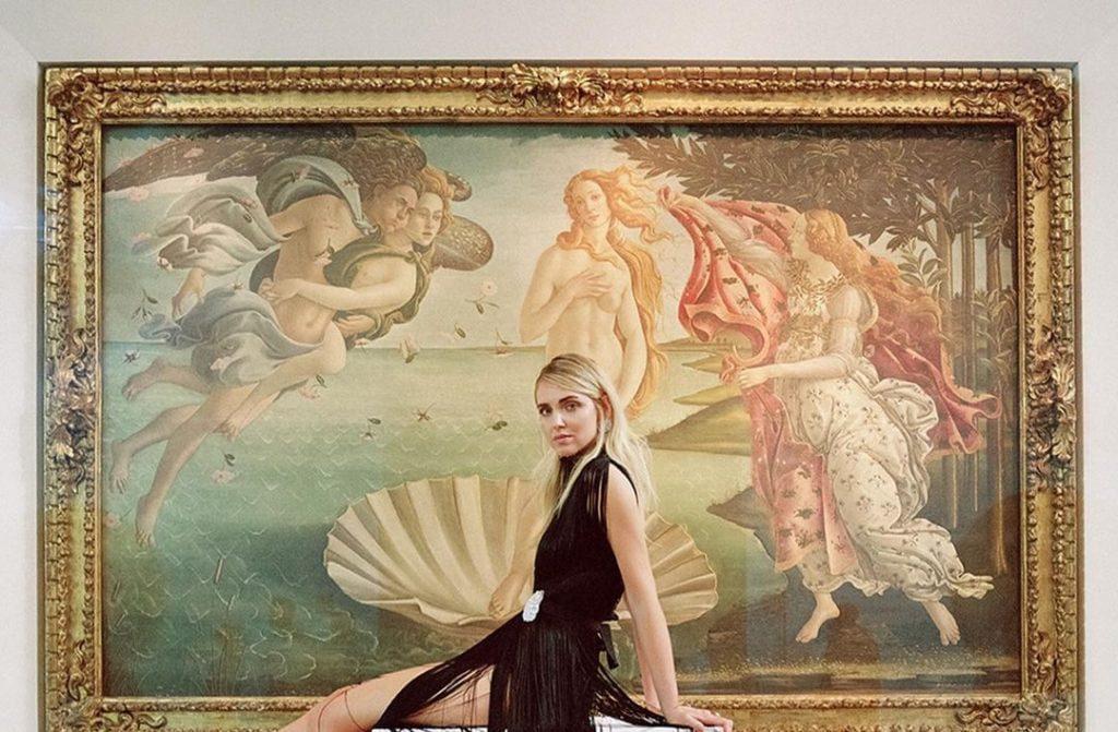 Chiara Ferragni alle Gallerie degli Uffizi di Firenze